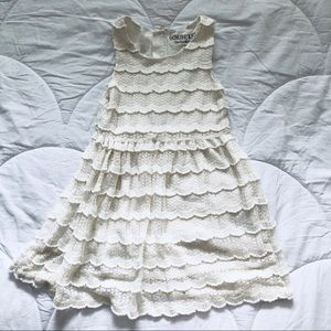 Oshkosh - Cream and Lace Dress